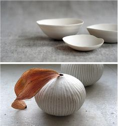 Admired today: minimal but soulful pottery by Janaki Larsen, in the interiors of the Butter on the Endive dinner in Vancouver (and available for sale at Le Marche St. George).