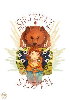 Nanatsu no Taizai, King - Grizzly's sin of Sloth