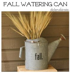 Fall Watering Can - Dolen Diaries