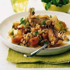 Lamb, butternut and barley stew