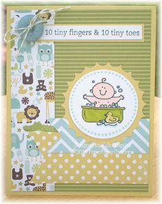 New Baby Boy Congrats Greeting Card by PaperKrazyCreations on Etsy, $3.35