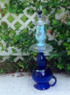 Dreamy Blue Garden Totem