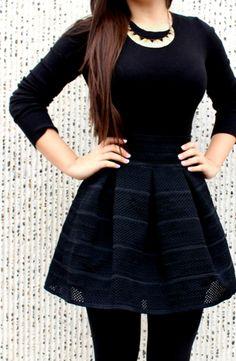 Pleated Flare Skirt <3