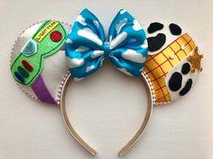Disney Toy Story Buzz Lightyear and Woody Inspired Mickey Ears Disney Minnie Mouse Ears, Diy Disney Ears, Disney Diy, Disney Crafts, Disney Ideas, Disney Theme, Disney Stuff, Disney Ears Headband, Disney Headbands