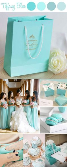 "Tiffany Blue Wedding Favor Bags for Matched Wedding Colors and Themes-@elegantwinvites USE CODE ""PRO"" FOR 15% OFF"