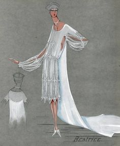 An exclusive peak into the archives of Jeanne Lanvin. Béatrice, 1928 Bridal dress designed by Jeanne Lanvin