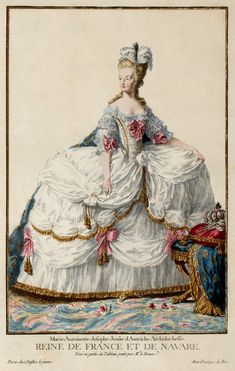 EKDuncan - My Fanciful Muse: Marie Antoinette - The Royal Fashion Plates Rococo Fashion, Royal Fashion, French Fashion, Vintage Fashion, Emo Fashion, Victorian Fashion, Costume Français, Court Dresses, 18th Century Fashion