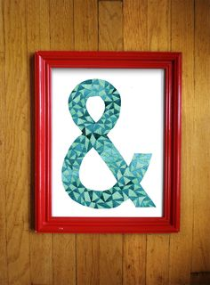 Ampersand watercolor print by BlueberryEnglish on Etsy $17.50