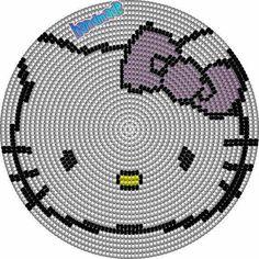New Knitting Charts Disney Hello Kitty Ideas Tapestry Crochet Patterns, Crochet Purse Patterns, Crochet Art, Crochet Purses, Loom Patterns, Beading Patterns, Stitch Patterns, Mochila Crochet, Crochet Disney