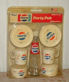 Vtg Pepsi Party Pak Childs Toy Play Set MINT In Pckg