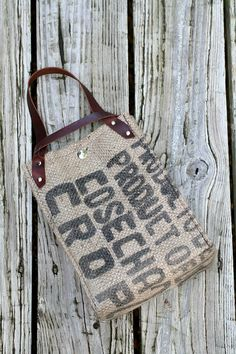 Recycled Burlap Lunch Bag!