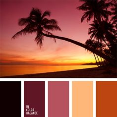 A striking example of an almost monochrome combination of rich shades of pink. This colour palette of sea sunset colours will be very helpful if you are de. Sunset Color Palette, Orange Color Palettes, Warm Colour Palette, Sunset Colors, Warm Colors, Orange Palette, Colour Schemes, Color Combos, Color Patterns