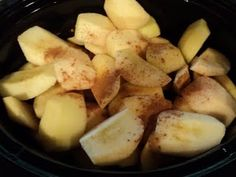 Applesauce in a crockpot, great of apple unit at school or at home!