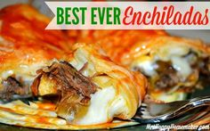 Best Ever Enchiladas. These sound amazing and I like the idea of making my own enchilada sauce, her recipe sounds super easy! Mexican Dishes, Mexican Food Recipes, Beef Recipes, Chicken Recipes, Dinner Recipes, Cooking Recipes, Dinner Ideas, Mexican Meat, Mexican Entrees