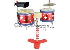8343 Drum set voor kinderen - Vilac - Muziek - Instrumenten - De ...
