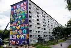 Ben Eine - Gothenburg Mural. Image via Goteborg.com