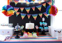 What happens when the party supplies queen, Jen of The Cupcake Social, throws a rainbow-themed birthday party for her daughter Regan? An absolutely fabulous explosion of color, that's what! Jen made Regan's party so so bright and happy, just try to look these photos without ...