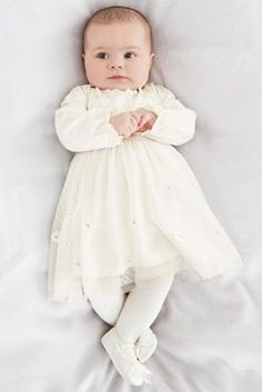 Buy Cream Flower Dress (0-18mths) online today at Next: United States of America
