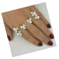 Yeprrm for good luck the four leaf clover ring in diamonds by yeprem