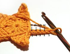 Simple crochet star - tutorial step by step
