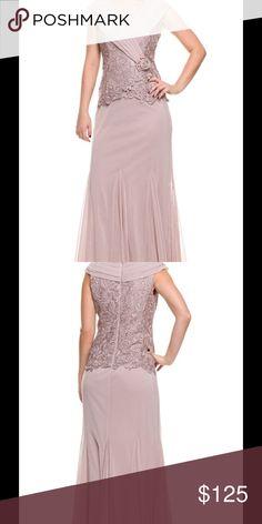 Patra Lace Bodice Jersey Dress Plus size Bertha neckline Crochet lace bodice brooch detail jersey dress. Lined Patra Dresses Maxi