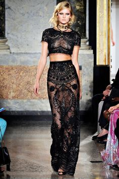 guipure lace dress.