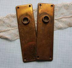 Vintage Glass Door Knobs- Clear Original Salvaged Doorknobs ...