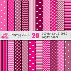 Check out this item in my Etsy shop https://www.etsy.com/listing/251379322/party-girl-geometric-digital-paper-set