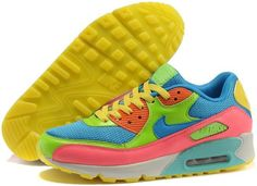 best sneakers b4035 6b2d7 Nike Air Max 90 men women Colorful Blue Green Nike Air Max Mens, Cheap Nike