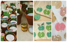 Ideas para regalar a los invitados del evento. Plantar tus propias hortalizas o una tote bag con estampado (Eventos Happy Ever)