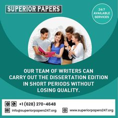 At www.superiorpapers247.org we work with postgraduate students in helping them to write such complex papers as theses or dissertations. superiorpapers247@gmail.com Call Or WhatsApp: +1 628 270 4648 Best Essay Writing Service, Paper Writing Service, Academic Writing Services, Business And Economics, Custom Writing, Term Paper, Good Essay, Writing Help, Research Paper