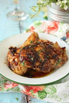 Sticky Thai Chicken. This is going on my list of dishes to try!