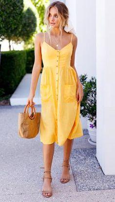 Sunflower Seeds Dress (Mustard) Mura Boutique