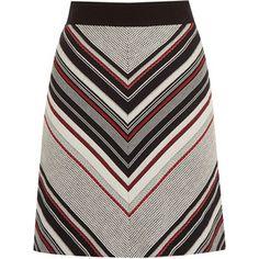 Warehouse Stripe Tweed Pelmet Skirt