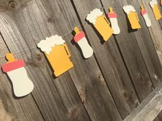 Beer Garland Baby Bottles and Beer Banner Baby Brewing The