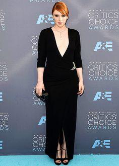 Bryce Dallas Howard attends the 21st Annual Critics' Choice Awards at Barker Hangar on January 17, 2016 in Santa Monica, CA.