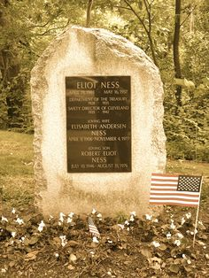 The grave of Eliot Ness.....Photo taken by Bea of World Paranormal Investigations