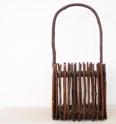 Vintage Twig Basket