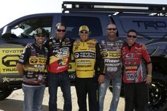 Bassmaster Elite Series pros Michael Iaconelli, Kevin VanDam, Terry Scroggins and Gerald Swindle offered their input to Myers on the customization of the truck. Bass Fishing, Trucks, Building, Hunting, Vehicles, Fishing, Truck, Buildings, Rolling Stock