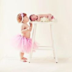Love this pose with big sister: newborn, sibling #baby by sonja