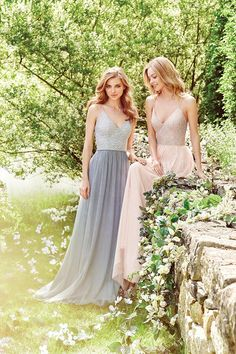 FESTIVAL BRIDES | Wild Heart Bridal Boutique Celebrate 1 Year with 10% off, blue and blush bridesmaid dresses                                                                                                                                                                                 More