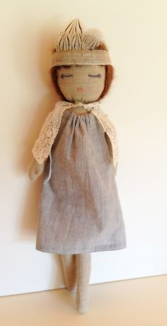 Sustainable fiber linen doll from Kathryn Davey available at abc carpet NY