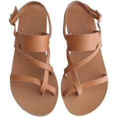 Ancient Greek Sandals Alethea ($172) ❤ liked on Polyvore featuring shoes, sandals, flats, sapatos, leather sole sandals, leather flat shoes, open toe flats shoes, leather shoes and genuine leather shoes