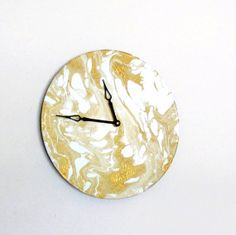 Unique Wall Clock Decor and Housewares Gold and by Shannybeebo, $50.00