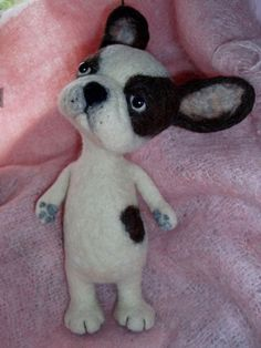 French Bulldog -   Needle Felted by Megarryspikey, via Flickr: