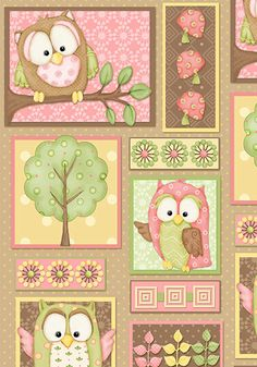 Henry Glass & Co You Whoo PINK OWL PATCHWORK by NauvooQuiltCo