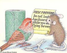 """Flying Lesson"" from House-Mouse Designs®. This image was recently purchased on a rubber stamp. Click on the image to see it on a bunch of other really ""Mice"" products."