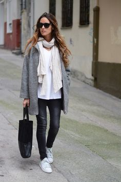 The coolest way to accessorize coated denim? Sneakers. -Kate Dimmock