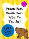 Brown Bear Roll & Color Dice Game product from Pink-at-heart on TeachersNotebook.com
