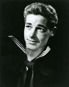 """Actor S1c Guy Madison US Navy (Served 1942-1945) Short Bio: Best remembered as TV's """"Bill Hickok"""" in the early 50s, Madison who was born Robert Moseley, spent WWII flying PYY's between San Diego and Hawaii."""